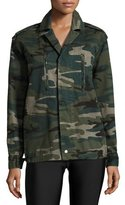 Spiritual Gangster Trust the Universe Camouflage Military Jacket, Green