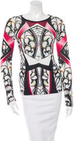 Peter Pilotto Digital Print Mesh Top