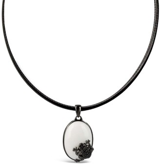 Bellus Domina Sterling Silver Frog Necklace