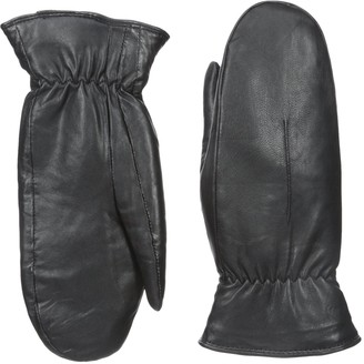 Gloves International Women's Leather Mittens with Faux-Fur Lining