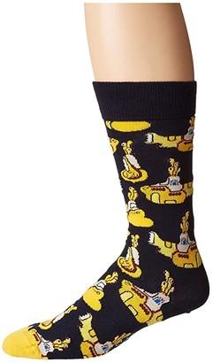 Happy Socks Beatles Yellow Submarine Sock (Navy) Men's Crew Cut Socks Shoes