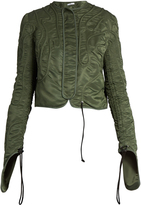 J.W.Anderson Squiggle-drawstring satin-twill bomber jacket