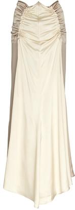 Lee Mathews Adela Ruched Silk Midi Skirt