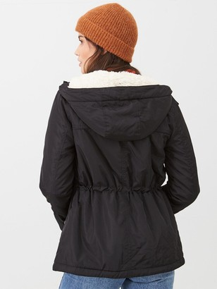 Very Fleece Lined Hike Windcheater - Black