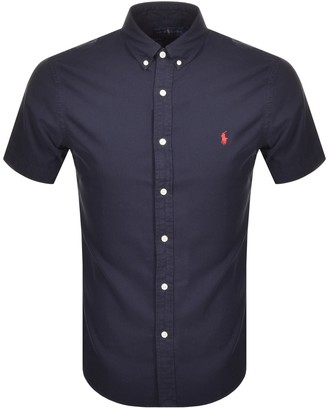 Ralph Lauren Slim Fit Short Sleeve Shirt Navy