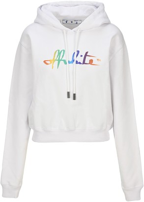 Off-White Off White Raimbow Cropped Hoodie