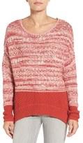 Caslon Colorblock Marl Knit Sweater (Regular & Petite)