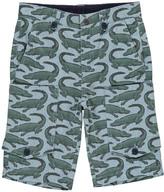 Stella McCartney Crocodile Pine Striped Cargo Bermuda Shorts