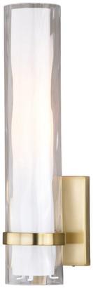Vaxcel Vilo 1 Light Brass Bathroom Wall Fixture