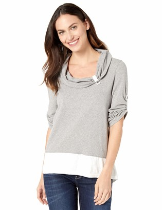 Neon Buddha Women's Comfy Cotton 3/4 Sleeves Tunic Top