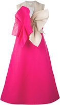 DELPOZO contrast twist effect dress