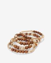 White House Black Market Wooden Mesh Stretch Bracelet Set