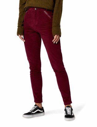 Amazon Brand - find. Women's Cord Skinny Fit Trouser with Zip Pockets