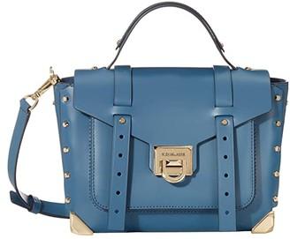 MICHAEL Michael Kors Manhattan Medium Top-Handle School Satchel (Dark Chambray) Handbags