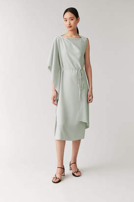 Cos Recycled Crepe Draped Dress