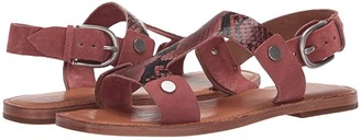 Frye Felix Sling Sandal (White/Black Multi) Women's Shoes