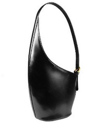 Fontanelli Striking Black Italian Leather Handbag