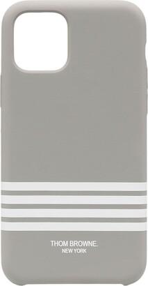 Thom Browne 4-Bar print iPhone 11 Pro case