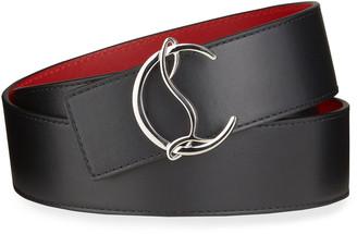 Christian Louboutin Men's CL Logo Leather Belt