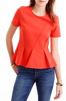 J.Crew Women's Asymmetrical Pleat Top