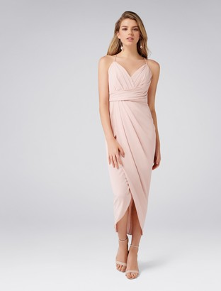 Forever New Charlotte Petite Drape Maxi Dress - Nude - 8