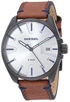 Diesel MS9 Three-Hand Leather Watch DZ1903 (Brown) Watches