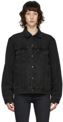 Levi's Levis Black Denim Vintage-Fit Trucker Jacket