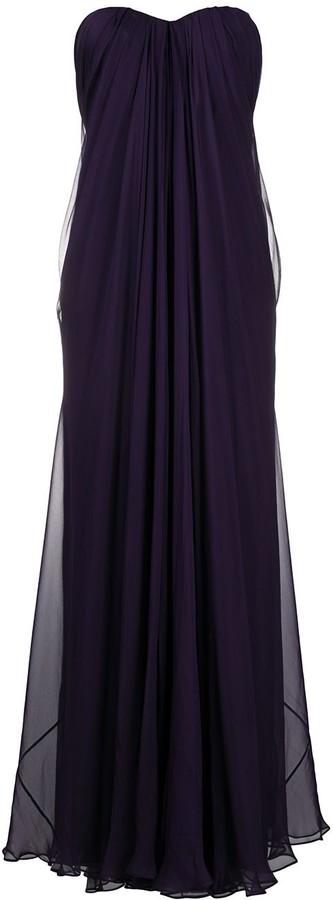 Alexander McQueen Gathered-Detail Long Dress
