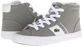 Lacoste Kids - Fairlead Mid L N FA13 (Little Kid) (Grey/White) - Footwear