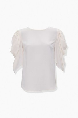 Forever 21 Pickup-Sleeve Keyhole Top
