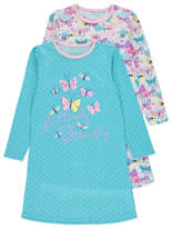 George 2 Pack Butterfly Print Nightdresses