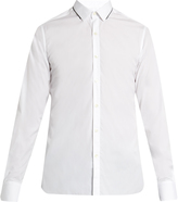 Lanvin Collar-contrast single-cuff cotton shirt