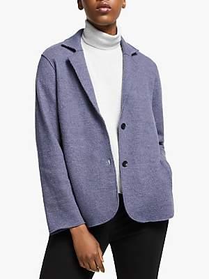 Eileen Fisher Boiled Wool Jacket, Blue Shale