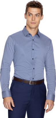 yd. Navy Justice Slim Dress Shirt