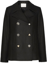 ADAM by Adam Lippes Embellished Wool-blend Peacoat - Black