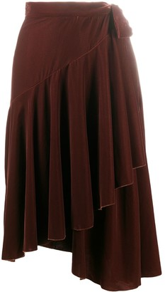 L'Autre Chose High-Waisted Pleated Midi Skirt