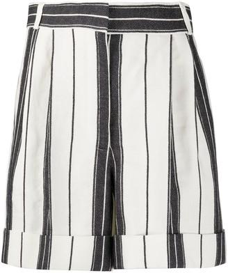 Alexander McQueen High-Waist Striped Shorts