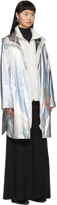 Army by Yves Salomon Yves Salomon - Army Silver Down Iridescent Removable Insert Coat