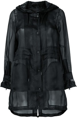 Herno Sheer Button Up Coat