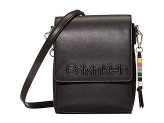 Calvin Klein Cube Smooth Vegan Leather North/South Crossbody