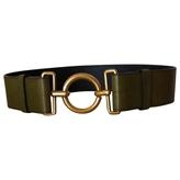 Saint Laurent Khaki Leather Belt