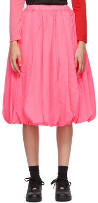 Comme des Garcons Pink Tropical Midi Skirt