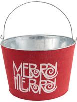 Mud Pie Merry Merry Burlap Tub