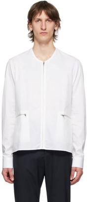 Cornerstone White Zip-Up Shirt