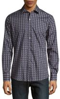 Pal Zileri Slim Chevron-Pattern Shirt