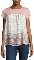 REWIND Rewind Short Sleeve Round Neck T-Shirt-Juniors