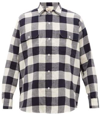 Holiday Boileau Checked Brushed-cotton Shirt - Mens - Navy Multi