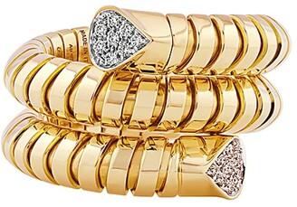 MARINA B 18kt yellow gold Trisola pave diamond ring
