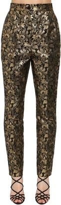 Dolce & Gabbana High Waist Lame Jacquard Pants