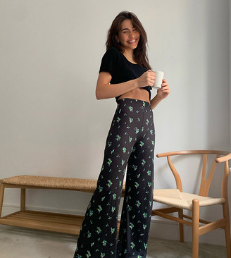 Reclaimed Vintage inspired wide leg flare trouser in floral print